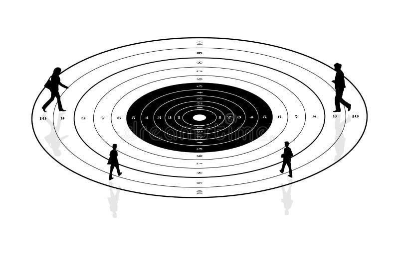 Download Obiettivo della gente illustrazione vettoriale. Illustrazione di abilità - 30827455