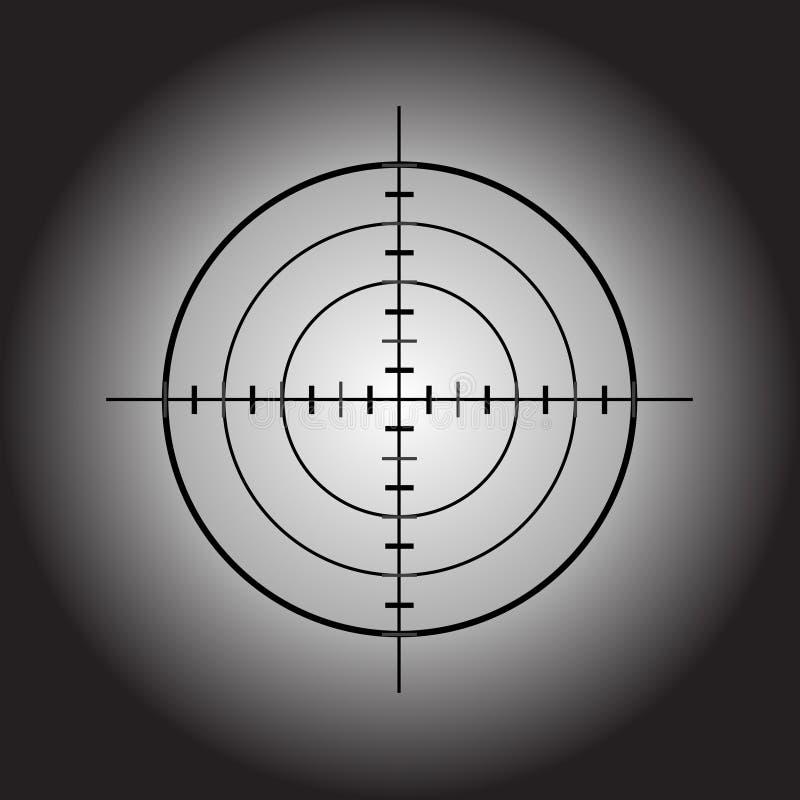 Obiettivo della pistola di vettore illustrazione vettoriale