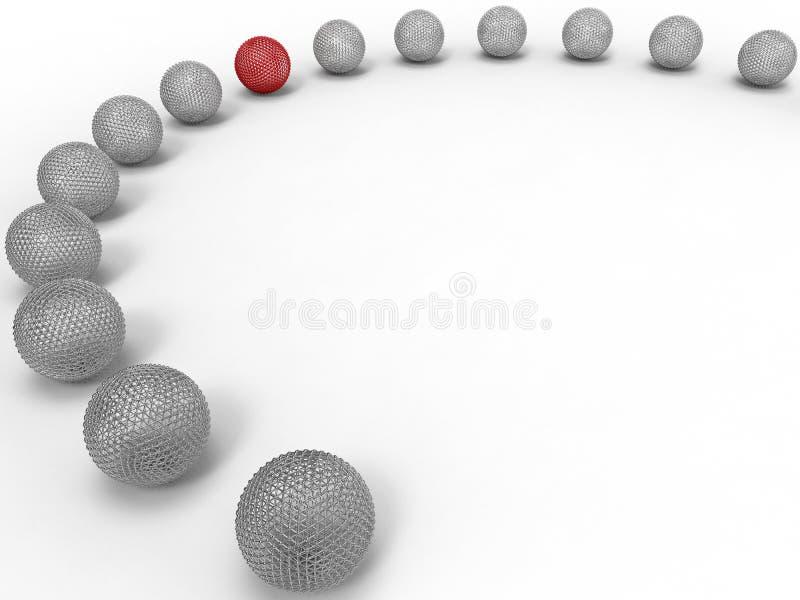 Obiettivo delle sfere della maglia nel concetto di fila royalty illustrazione gratis