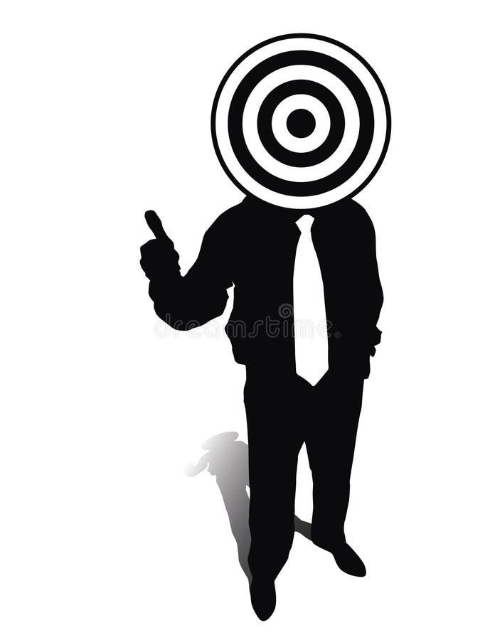 Obiettivo di affari illustrazione di stock