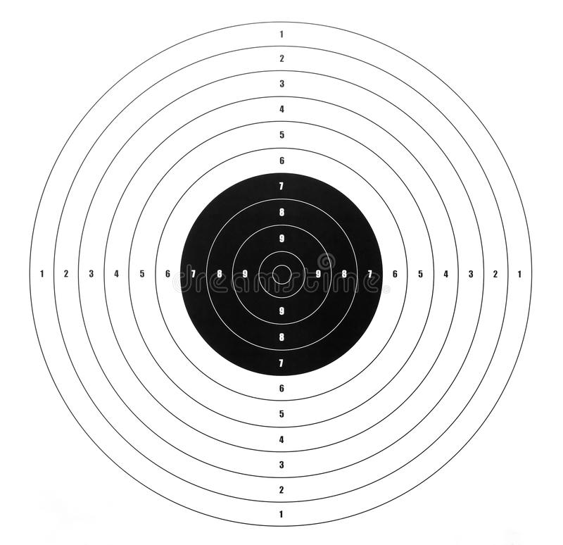 Obiettivo di carta della fucilazione immagine stock libera da diritti