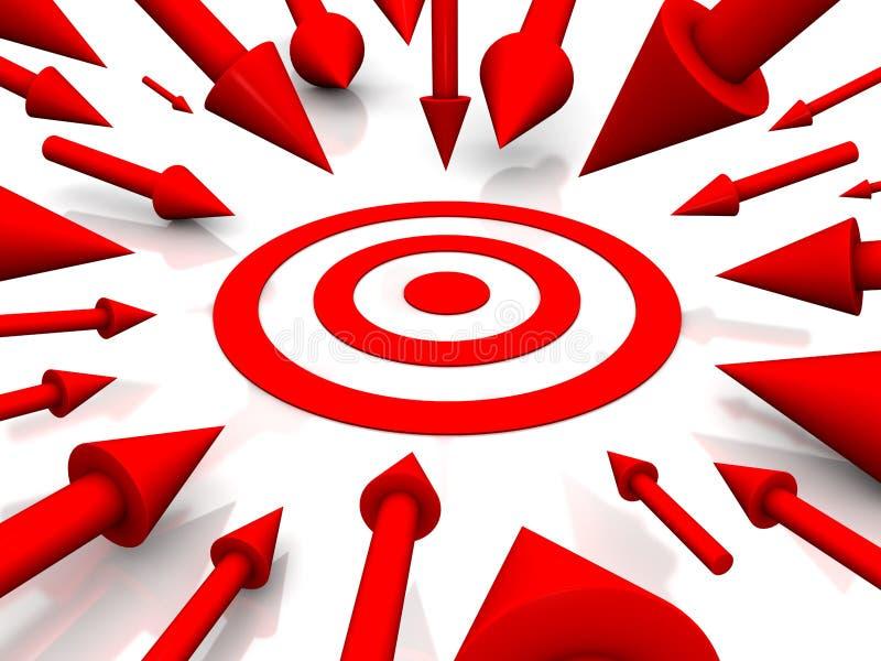 Download Obiettivo Di Colore Rosso Di Riga Illustrazione di Stock - Illustrazione di scopo, anello: 7314545
