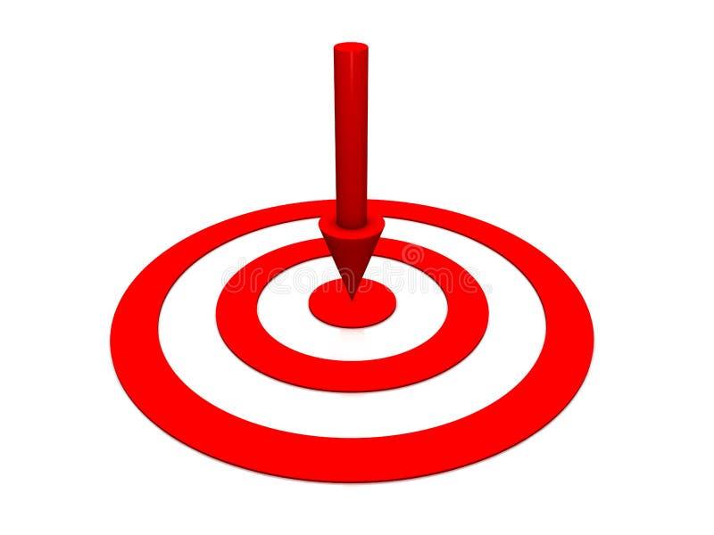 Download Obiettivo Di Colore Rosso Di Riga Illustrazione di Stock - Illustrazione di jackpot, svago: 7314559