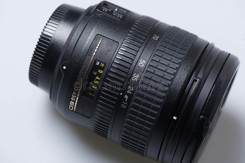 Obiettivo di Digital SLR immagini stock libere da diritti