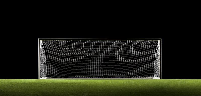 Obiettivo di gioco del calcio di obiettivo di calcio fotografie stock libere da diritti