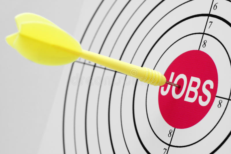 Obiettivo di job immagine stock