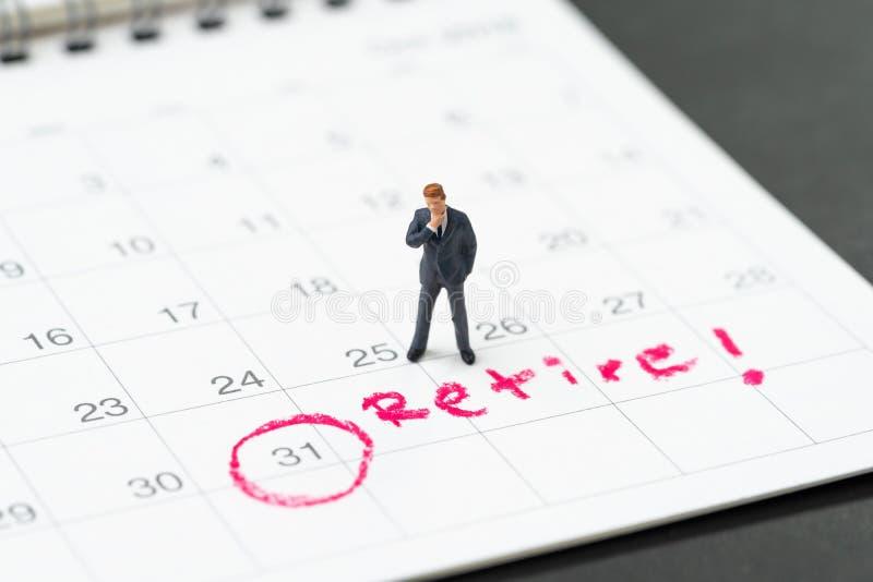 Obiettivo di pensionamento o progettare di smettere lavoro o libertà finanziaria fotografia stock