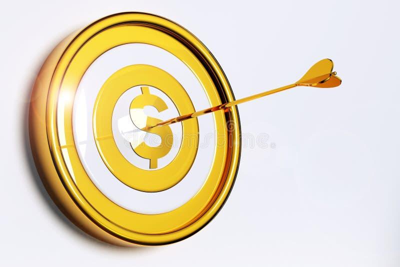 Obiettivo di soldi fotografie stock libere da diritti