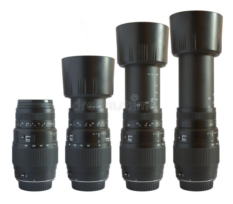 Obiettivo di telephoto nero immagini stock
