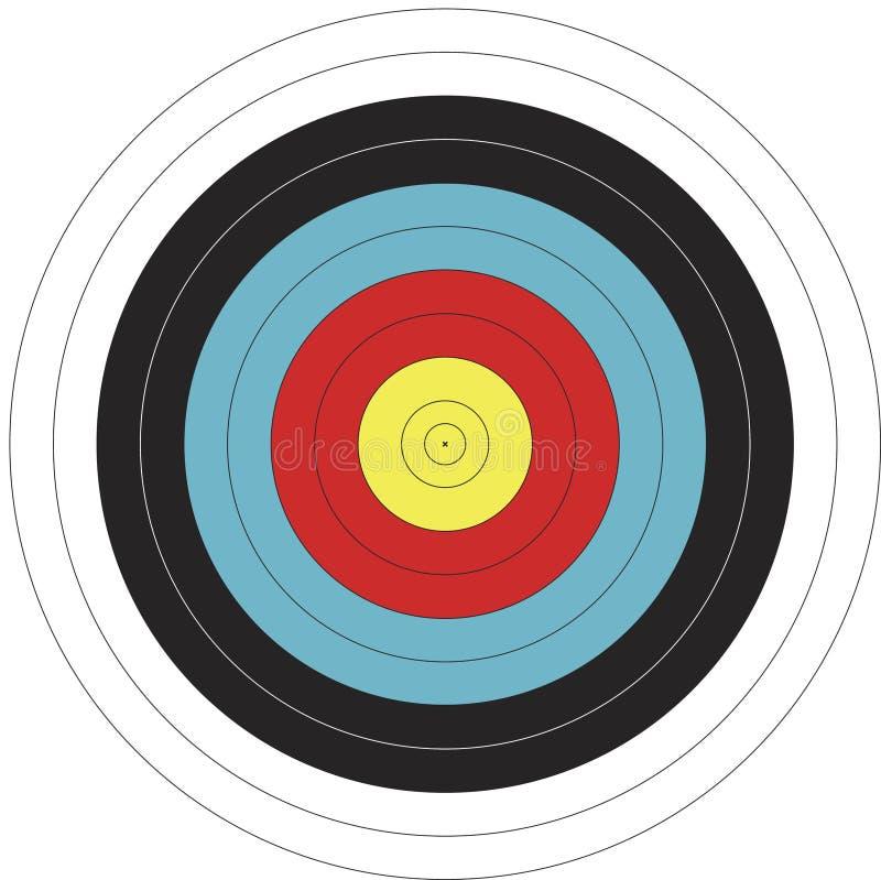 obiettivo di tiro all'arco di disegno di 122cm FITA royalty illustrazione gratis