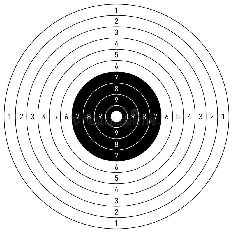 Obiettivo di vettore illustrazione di stock