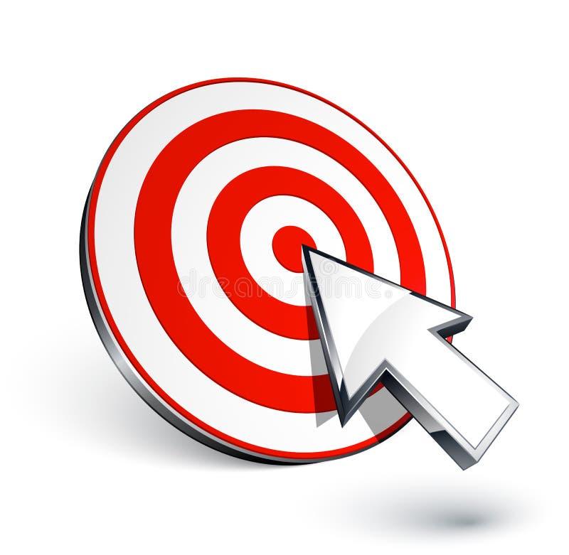 Obiettivo e cursore illustrazione di stock
