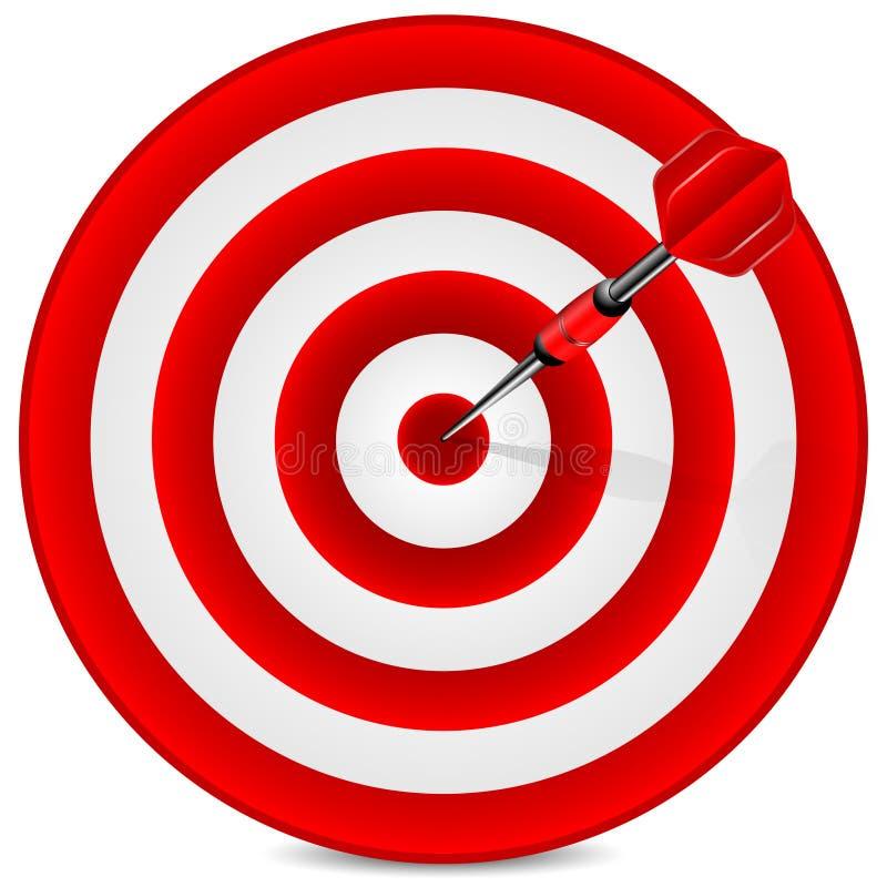 Obiettivo e dardo illustrazione di stock