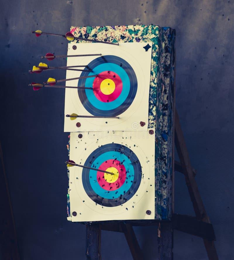 Obiettivo e frecce fotografia stock libera da diritti