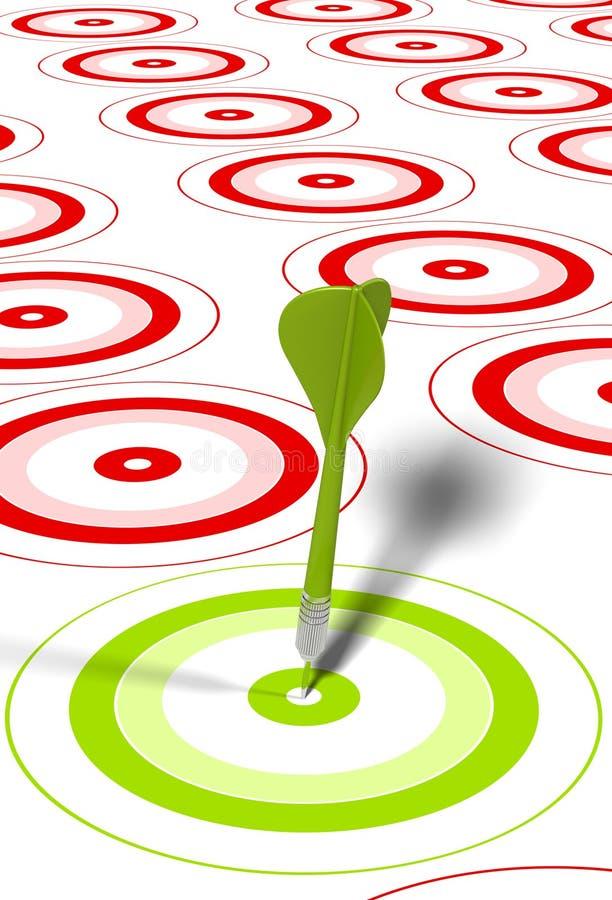 Obiettivo e freccia - concetto di vendita illustrazione di stock