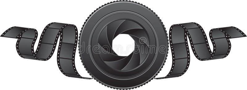 Obiettivo e pellicola illustrazione vettoriale