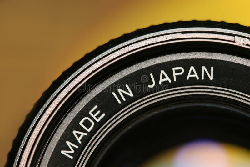 Obiettivo fatto nel Giappone immagine stock libera da diritti