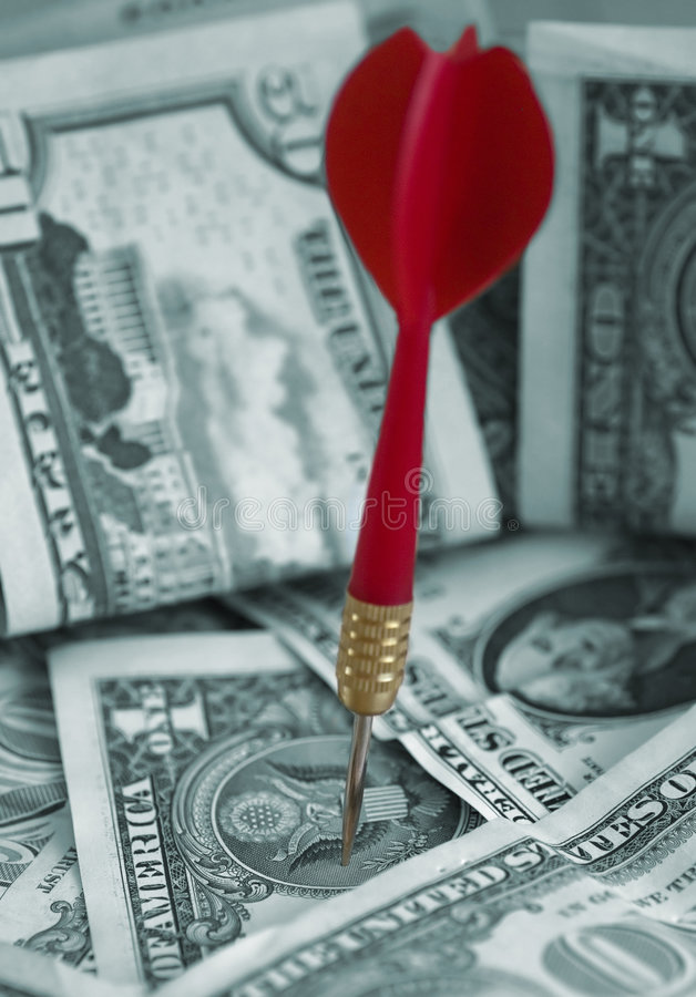 Download Obiettivo Finanziario (soldi Del Dollaro US) Fotografia Stock - Immagine di archery, concettuale: 221172