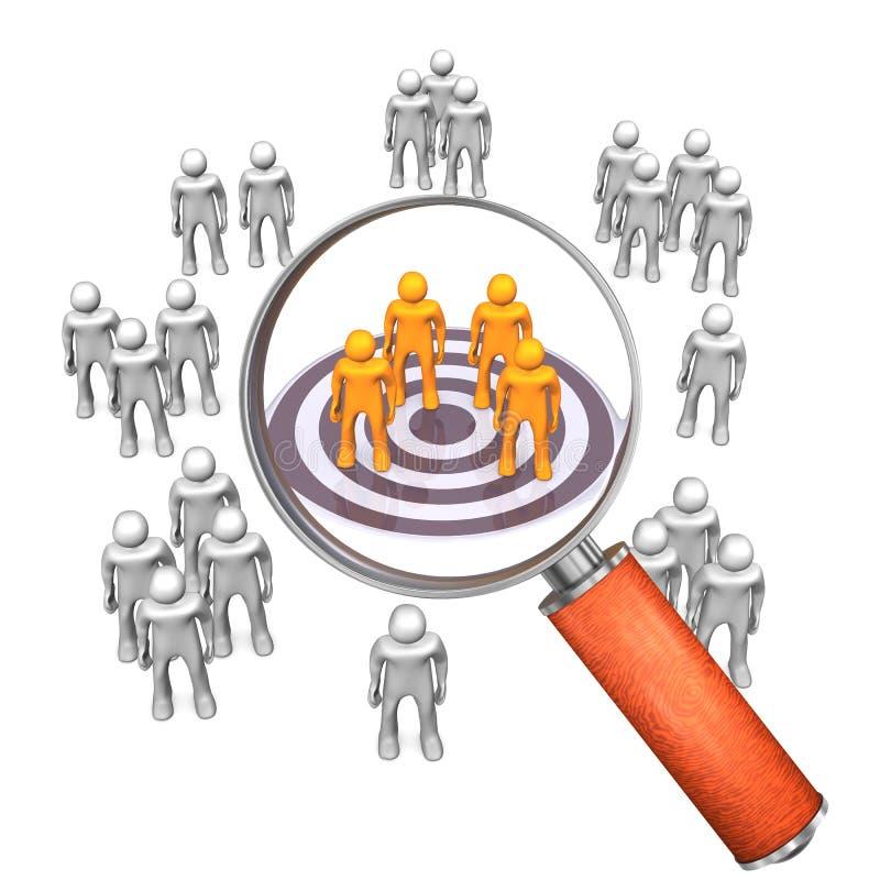 Obiettivo Groupe della lente di ingrandimento illustrazione di stock