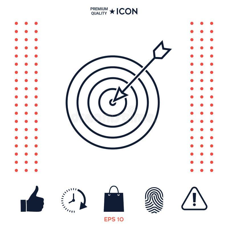 Download Obiettivo, Icona Della Linea Di Fondo Illustrazione Vettoriale - Illustrazione di esattezza, scopo: 117977308