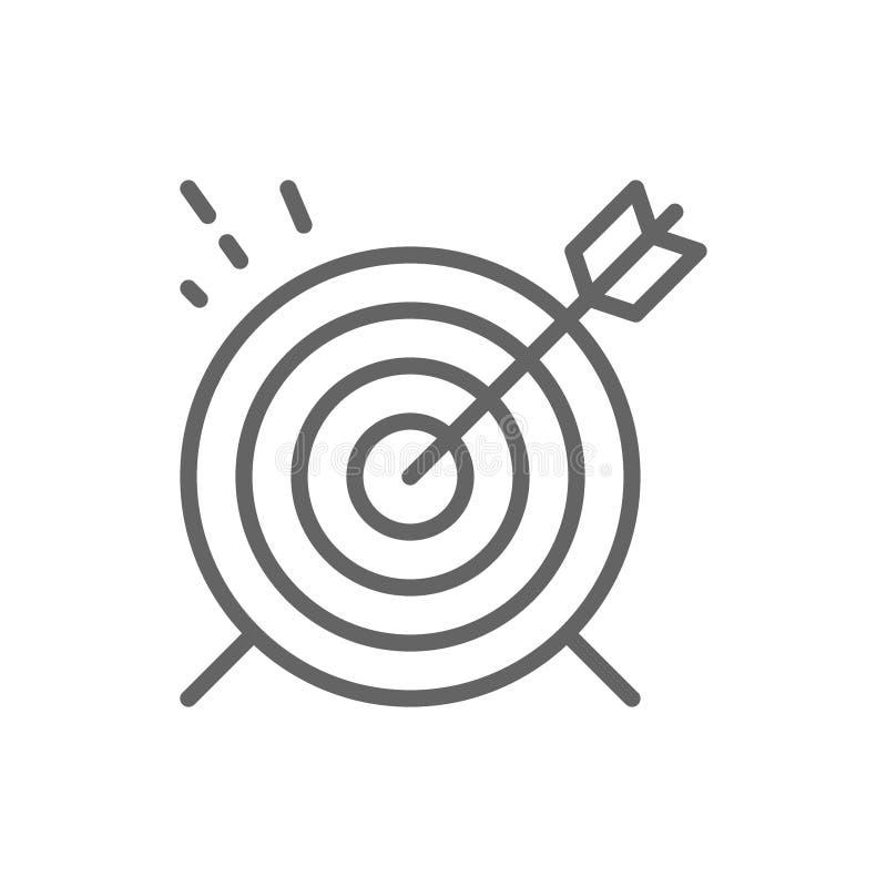 Obiettivo, icona della linea di fondo Isolato su priorit? bassa bianca illustrazione vettoriale