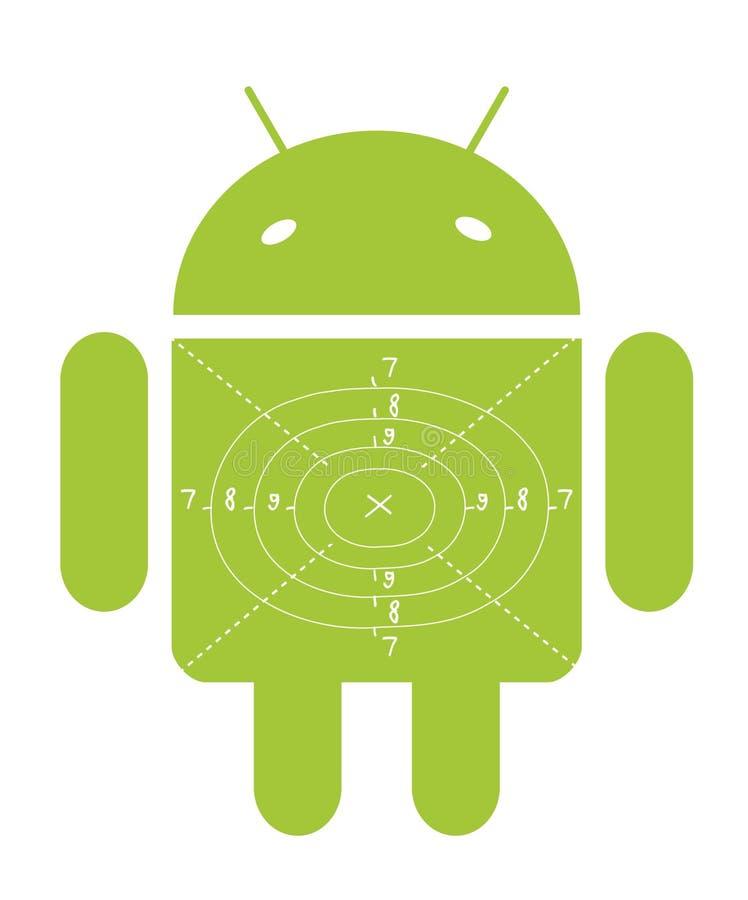 Obiettivo verde del Android