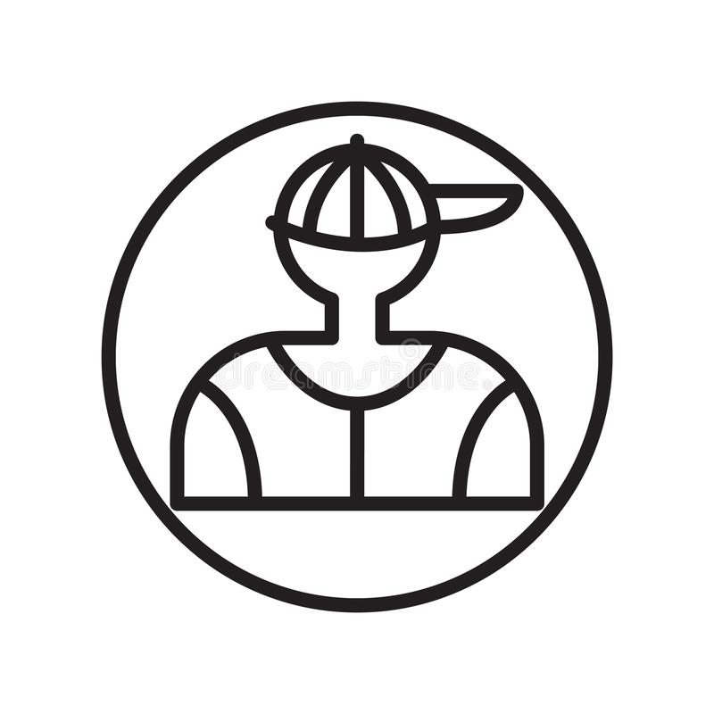 Obija ikona wektor odizolowywającego na białym tle, ciasto naleśnikowe znak, liniowi sportów symbole ilustracja wektor