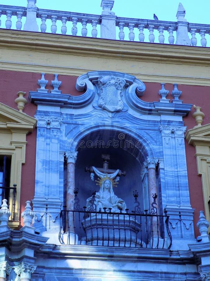 Obispal宫殿马拉加的门面 图库摄影