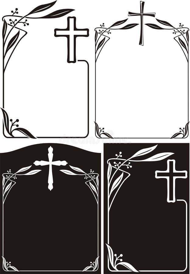 Obituario O Placa Conmemorativa - Marco Del Art Déco Ilustración del ...