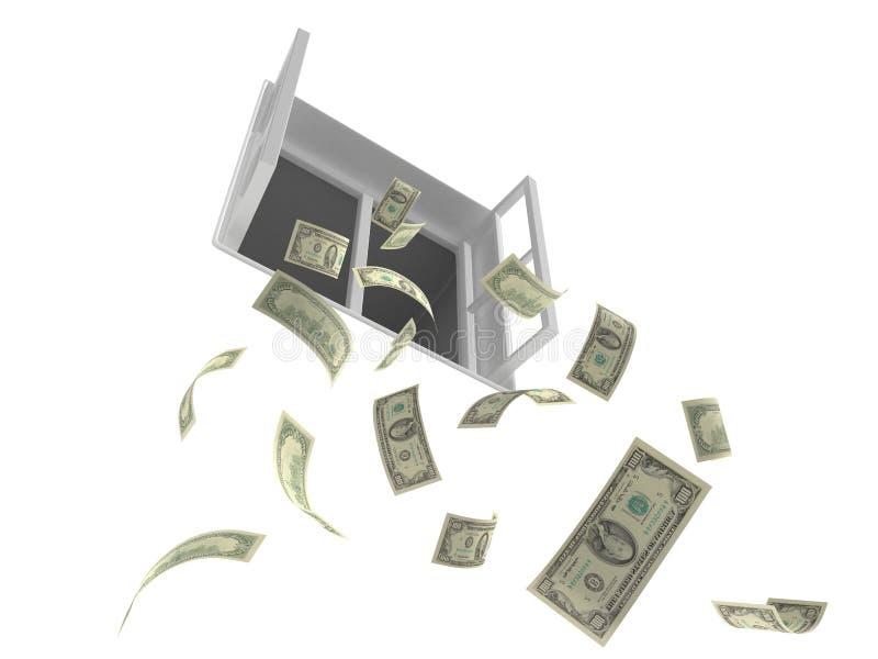 objętych pieniądze ilustracji