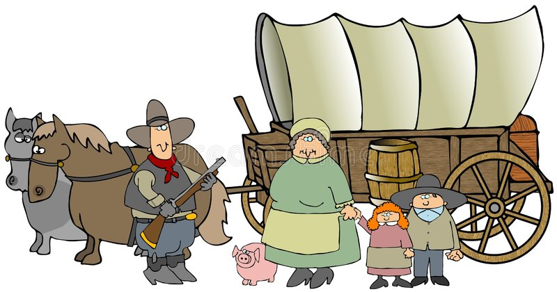 objętych wóz royalty ilustracja