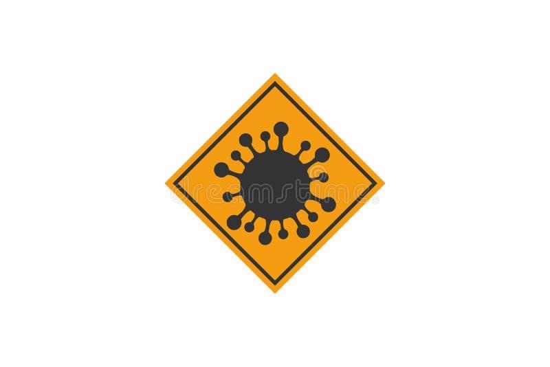 Objaw koronawirusowy Ikona komórek bakterii wirusa Corona zdjęcie stock