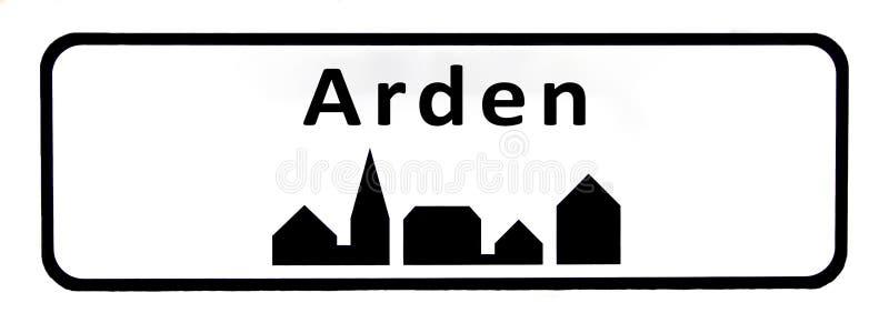Objaw miasta Arden royalty ilustracja