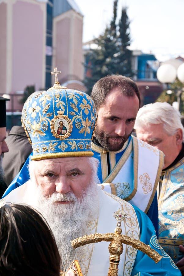 Objawienie Pańskie Vodici, Bogojavlenje w Macedonia (,) fotografia royalty free