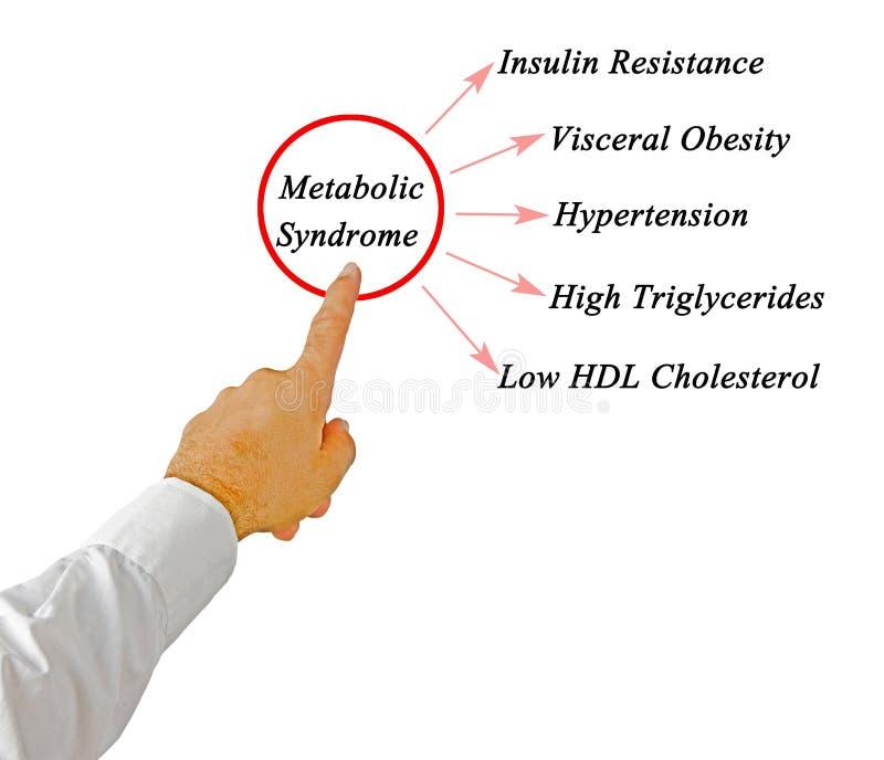 Objawy Metaboliczny syndrom fotografia royalty free
