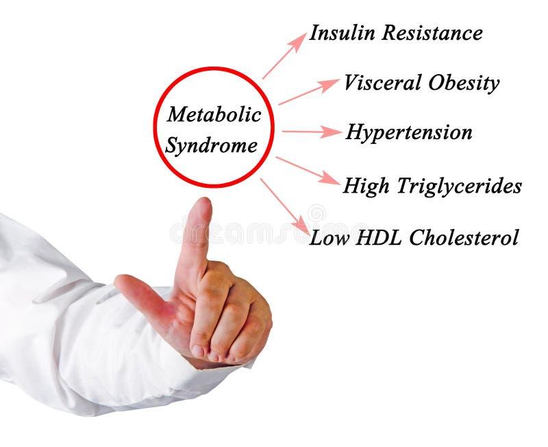 Objawy Metaboliczny syndrom obraz stock