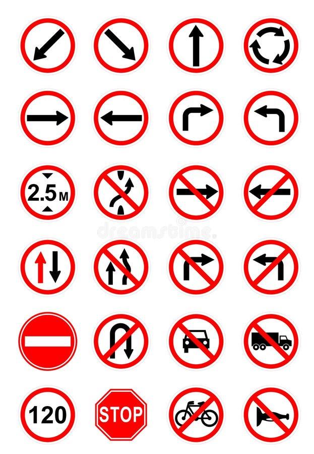 objazdy wskazówkę czerwonych stopu wstążek ostro znak ruchu drewna royalty ilustracja