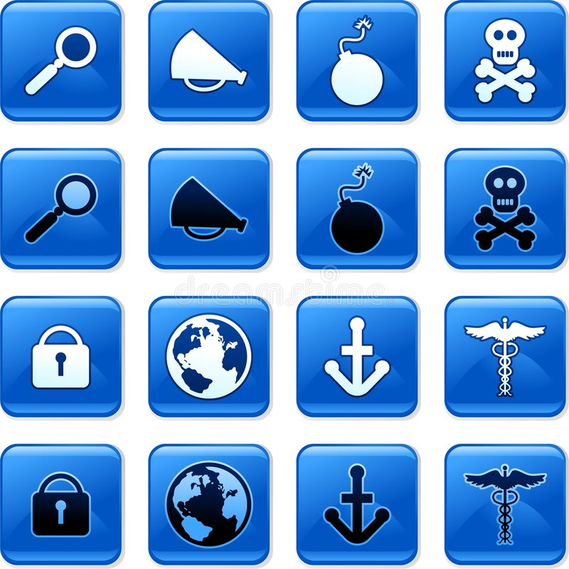 Object buttons royalty free illustration