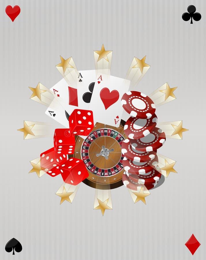 Object casino. Illustration of object casino with gold stars stock illustration
