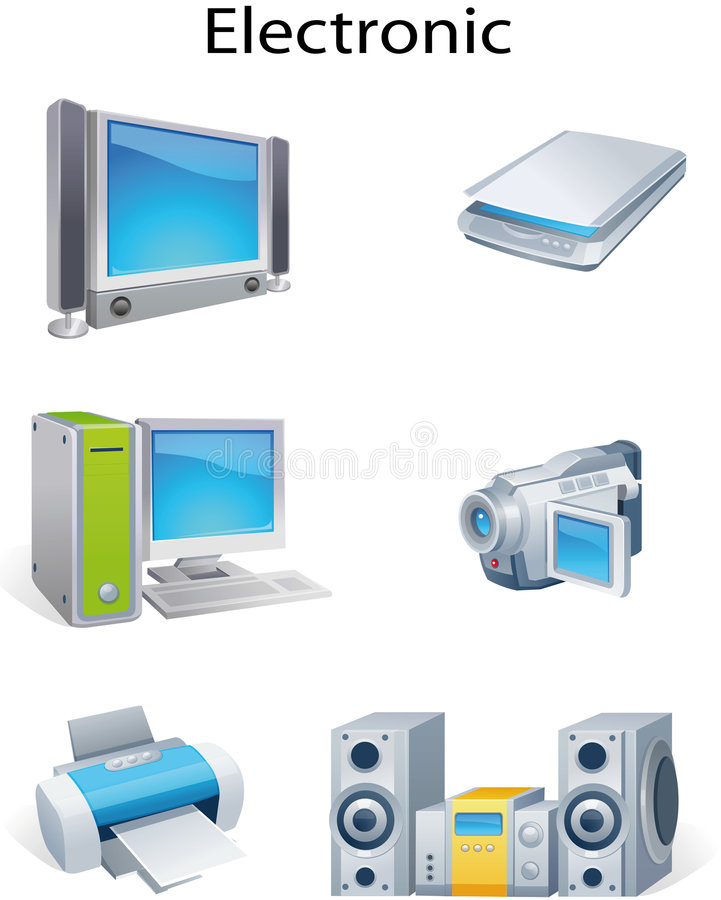 Object electronic stock illustration