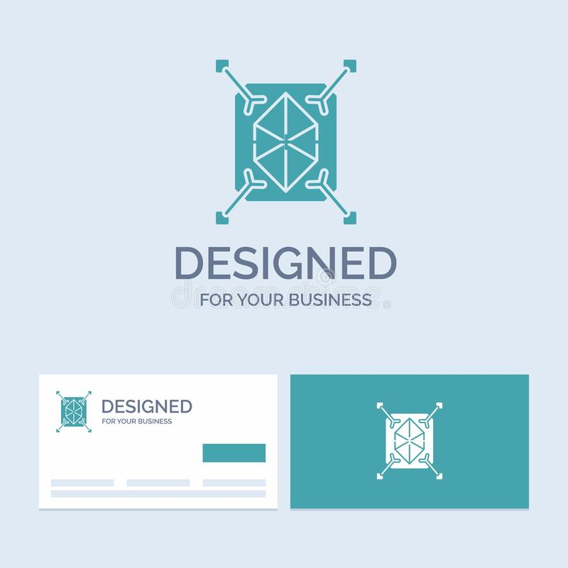 Object, prototyping, rapid, structure, 3d Business Logo Glyph Icon Symbol for your business. Turquoise Business Cards with Brand. Logo template.. Vector EPS10 stock illustration