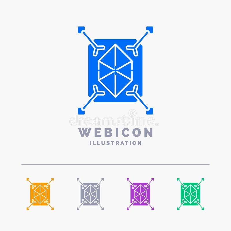 Object, prototyping, rapid, structure, 3d 5 Color Glyph Web Icon Template isolated on white. Vector illustration. Vector EPS10 Abstract Template background vector illustration