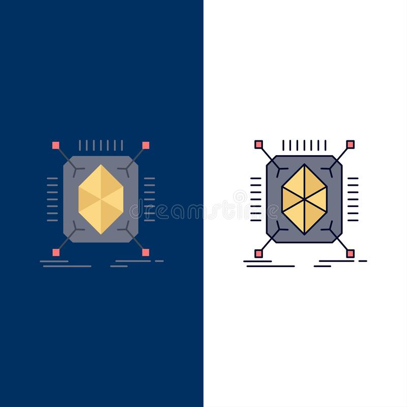 Object, prototyping, rapid, structure, 3d Flat Color Icon Vector vector illustration