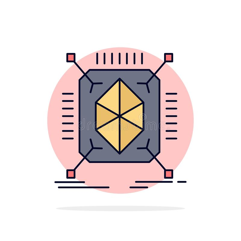 Object, prototyping, rapid, structure, 3d Flat Color Icon Vector royalty free illustration