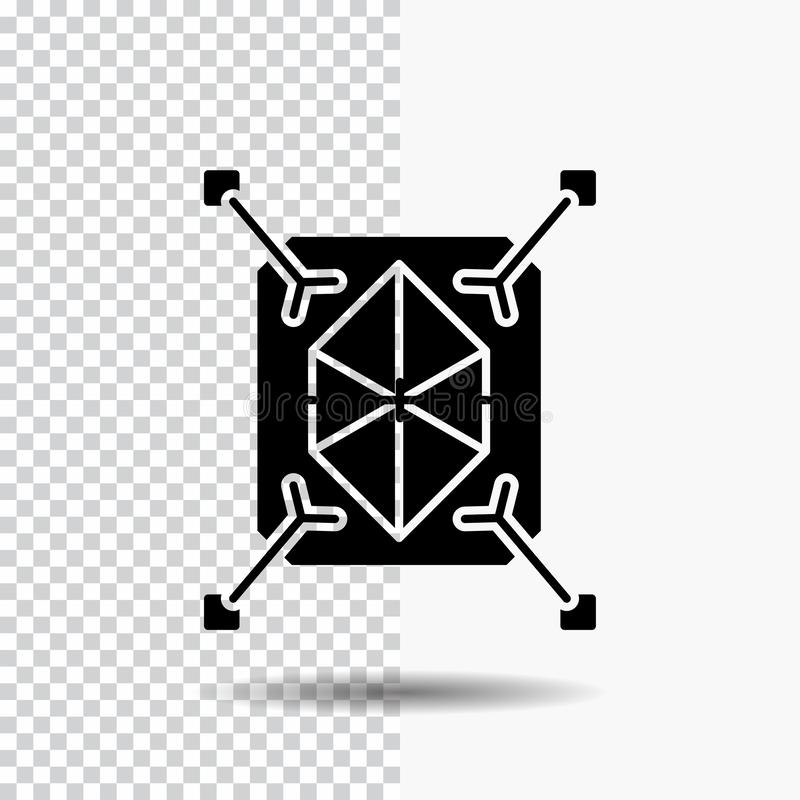 Object, prototyping, rapid, structure, 3d Glyph Icon on Transparent Background. Black Icon. Vector EPS10 Abstract Template background vector illustration
