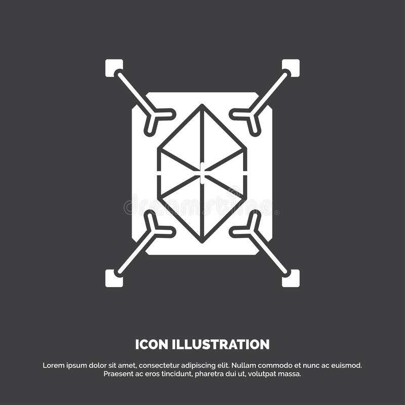 Object, prototyping, rapid, structure, 3d Icon. glyph vector symbol for UI and UX, website or mobile application. Vector EPS10 Abstract Template background royalty free illustration