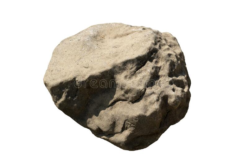 Object textured on white background of Scree Stone. stock photo