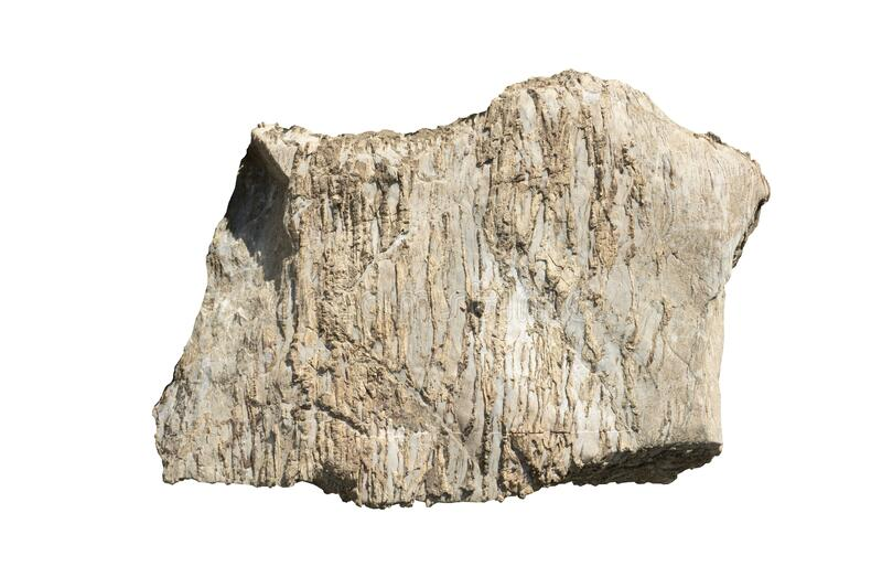 Object textured on white background of Scree Stone. royalty free stock image