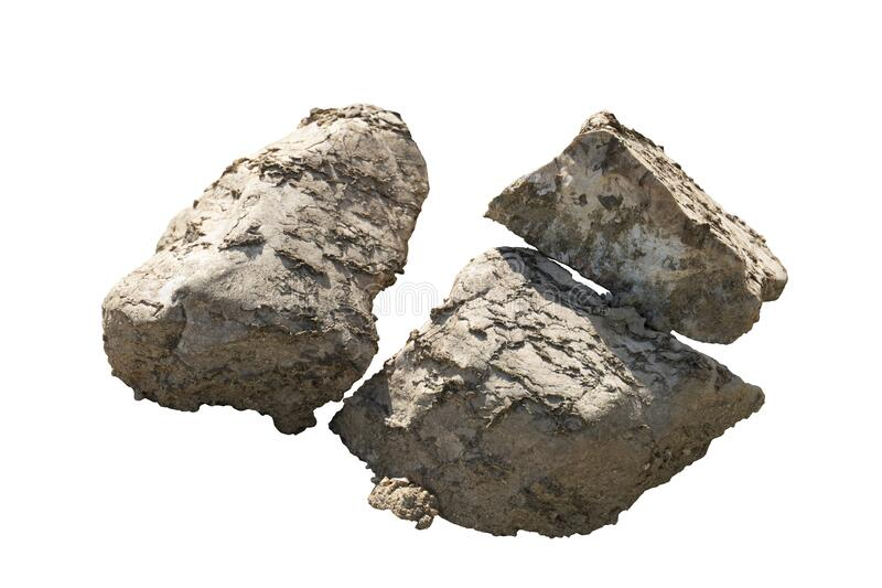 Object textured on white background of Scree Stone. stock photos