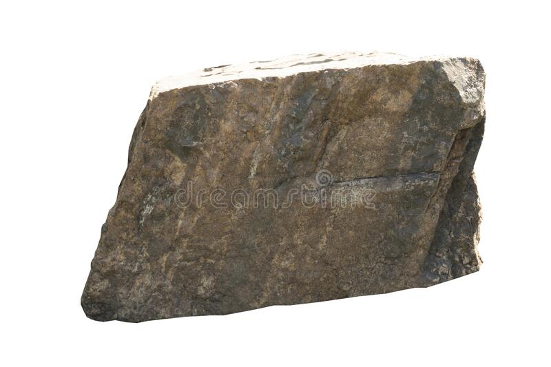 Object textured on white background of Scree Stone. stock image